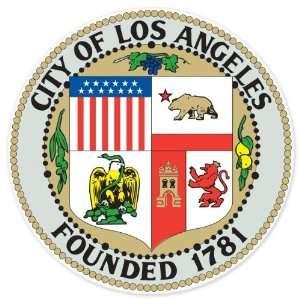 Los Angeles Seal car bumper sticker window decal 4 x 4