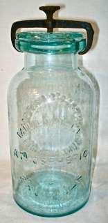 Antique Millville Atmospheric Fruit Canning Jar Pat. 1861