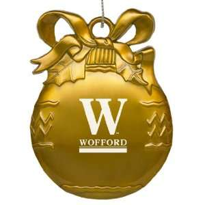 Wofford College   Pewter Christmas Tree Ornament   Gold