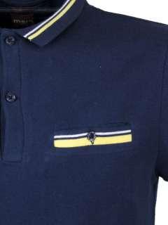 Mens Merc London Micro Collar Pique Polo Retro Shirt