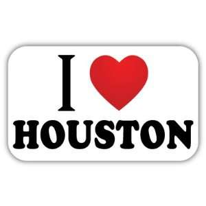 I Love HOUSTON Car Bumper Sticker Decal 5 X 3