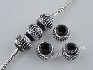 30 pcs black Spacer Loose beads Bracelets necklace charms findings