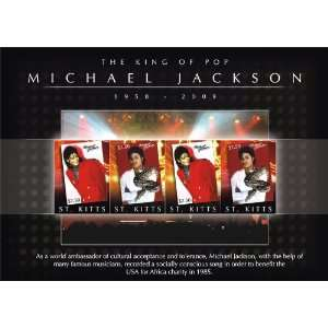 Michael Jackson   King of Pop St Kitts Stamps STK0907SH