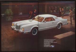 1977 white Lincoln Continental Mark V car photo ad