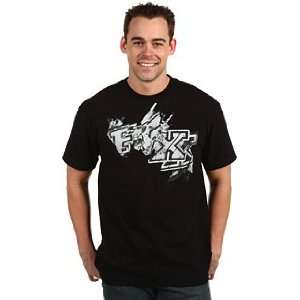 FOX Racing Mens 47049 MERKABA Short Sleeve Cotton Tee Shirt Black XXL