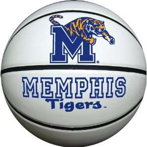 Memphis Tigers Official Size Synthetic Leather Autograph Basketball