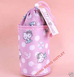 Hello Kitty Insulated Water Bottle Bag Case Sanrio C27b