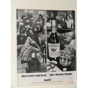 Imperial Hiram Walker Whiskey. 1970 full page print ad