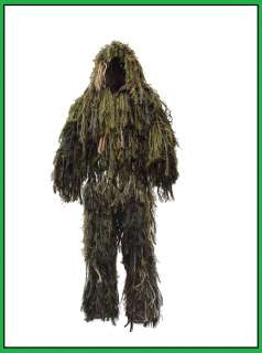 Sniper Airsoft War/Sport Camo/Camouflage Full Body Ghillie Suit Fit
