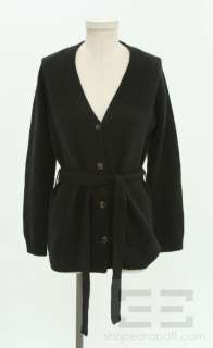 Malo Black Cashmere Cardigan Sweater Size 40