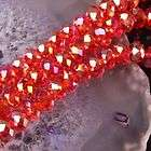 6x8mm Light Red Crystal Glass Faceted Abacus Loose Bead