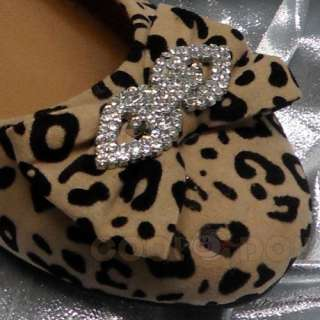 Fashion Casual Leopard Print Flats Shoes LORITA 09 CAMEL/Black NEW