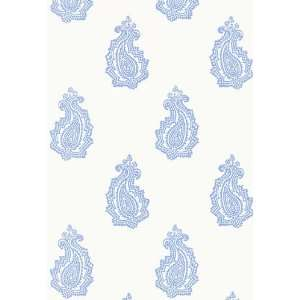 Madras Paisley Delft by F Schumacher Wallpaper: Home
