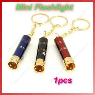 Mini 1 LED Bright Flashlight Torch Lamp Light Keychain