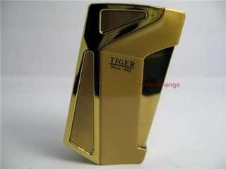 TIGER Cigarette Windproof Lighter NIB Gold LFn0