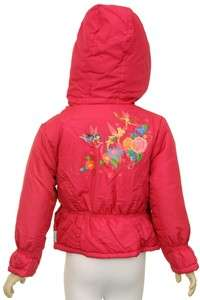NWT DISNEY PRINCESS TINKER BELL FUCHSIA JACKET 4 5/6 6X GIRLS