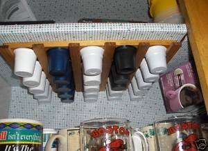 CUP STORAGE / HOLDER INSIDE OR UNDER KITCHEN CABINET
