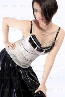 Latex/Rubber 0.45mm Halter Tank Dress Catsuit Costume