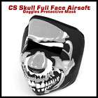 New CS Skull Full Face Airsoft Goggles Protective Mask