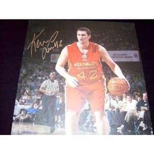 Upper Deck Authentic Kevin Love Autograph 32x23 Art Canvas