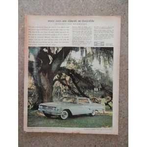 Impala Sport Sedan, Vintage 60s full page print ad.(green car/big
