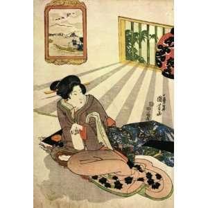 Keyring Japanese Art Utagawa Kuniyoshi Women 28