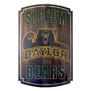 Baylor University Bears BU NCAA Wood Sign Sports