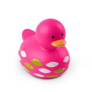 Elegant Baby Oversized 8 Polka Dot Rubber Duckie   Green Baby