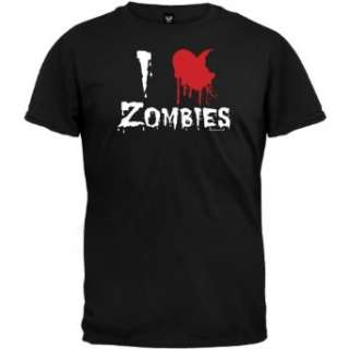 I Heart Zombies Black T Shirt Clothing
