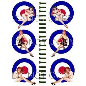 Sexy British Bomber Art WWII Pinup Girl Decals #78
