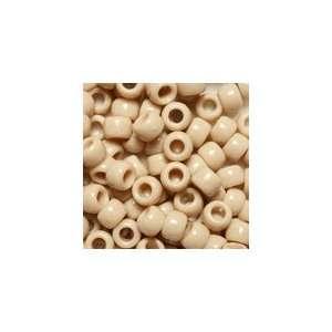 Dark Ivory Opaque Plastic Pony Beads 6x9mm, Super Value
