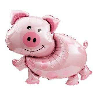 Pig Shaped 35 Inch Super Shaped Mylar Balloon Toys