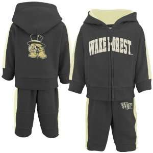 Wake Forest Demon Deacons Infant Black Quest Full Zip Hoody Sweatshirt
