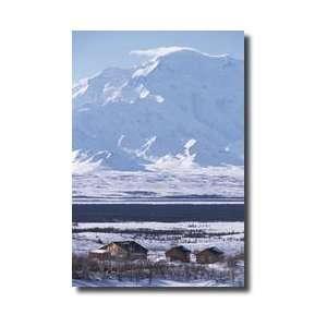 Park Cabins Wonder Lake Mount Denali In Background Denali National