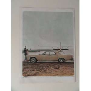 1964 Lincoln Continental. full page print ad(car/airplane