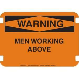 10 x 14 Standard Warning Signs  Men Working Above