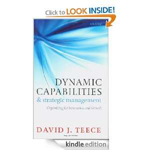 Capabilities and Strategic Management  Organizing for Innovation