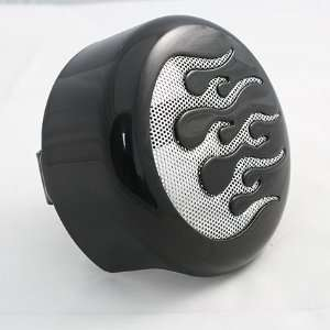 Horn Cover with Chrome Flame Insert For Harley Davidson Automotive