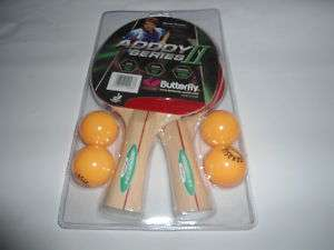 Butterfly addoy 2 player set racket table tennis Ping