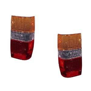 PAIR SET RIGHT & LEFT REAR/BACK TAIL LIGHTS TAILLIGHTS TAIL LAMPS LENS