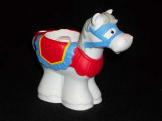 FISHER PRICE LITTLE PEOPLE KINGDOM CASTLE KNIGHT HORSE
