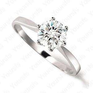 18K Whited Gold Plated 1ct Swarovski Crystal Emulational Diamond