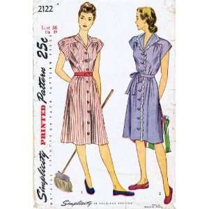Simplicity 2122 Vintage Sewing Pattern Womens Dress Bust