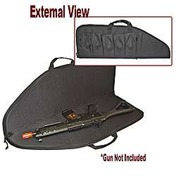 Black Soft Sided Rifle Travel Case With Pockets