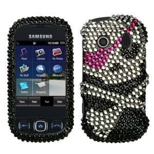 Skull Crystal Bling Case Cover for Samsung Seek M350
