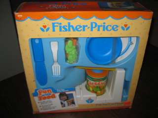 NEW Fisher Price Fun with Food Pop Top Can Opener BOX 2