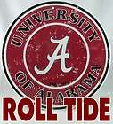 ALABAMA~ROLL TIDE~FOOTBALL~BEAR BRYANT~CRIMSON~WREATH