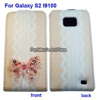 Samsung Galaxy S2 I9100 protective Leather Case Cover (Romantic w/o