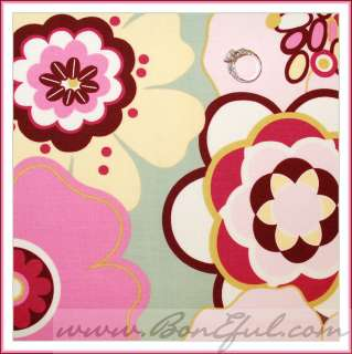 BOOAK Fabric Retro Pink Green Yellow Brown Apple Leaf Corduroy Cotton