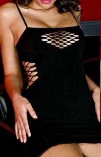 BLACK FISHNET GOTHIC DRESS VAMP BURLESQUE PIN UP CLUB
